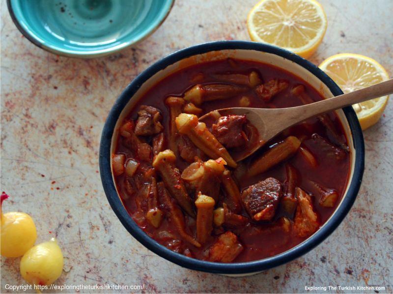 Meaty Okra With Lemon & Pepper (Etli Bamya)