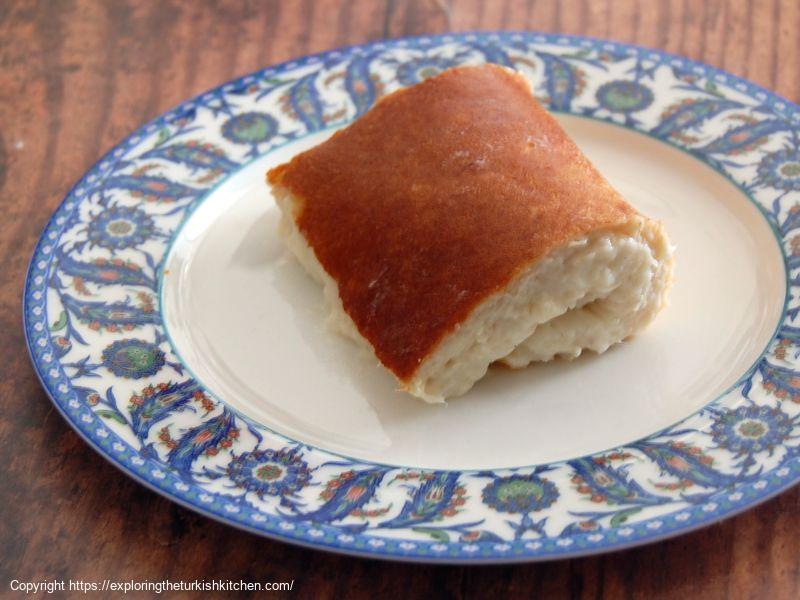 Sweet Chicken Pudding (Kazandibi-Tavukgöğüsü)