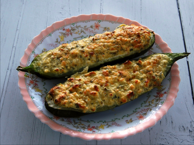 Cheesy Baked Courgette