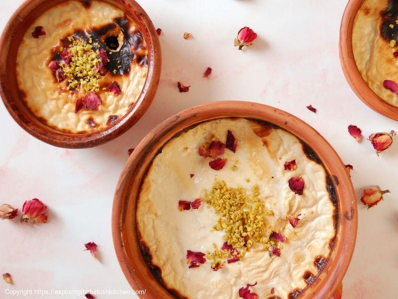 Rice Pudding (Sütlaç) With Honey & Rose
